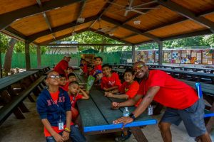Summer Camp: Downtown Center Boys About to Have Lunch